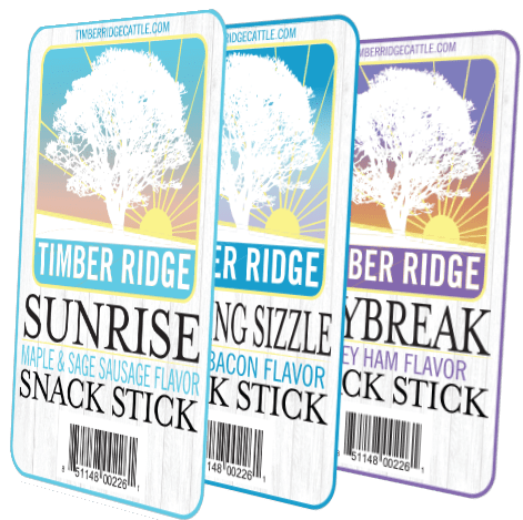 Timber Ridge Beef Sticks Breakfast Sticks - Labels