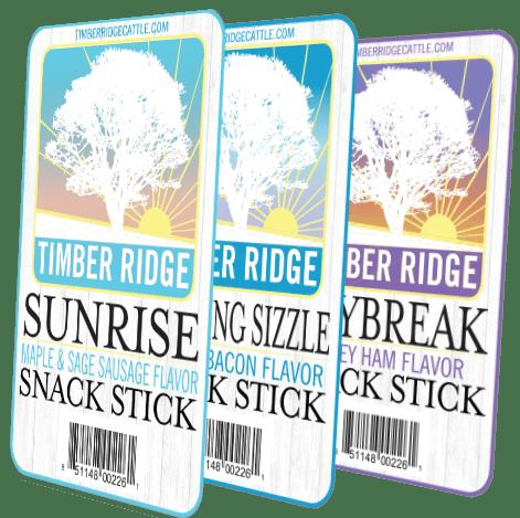 Timber Ridge Beef Sticks Breakfast Sticks - Labels